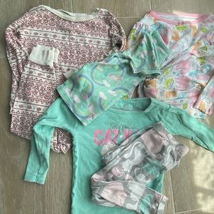 Pajama Bundle 3 sets, with extra unicorn sleep top